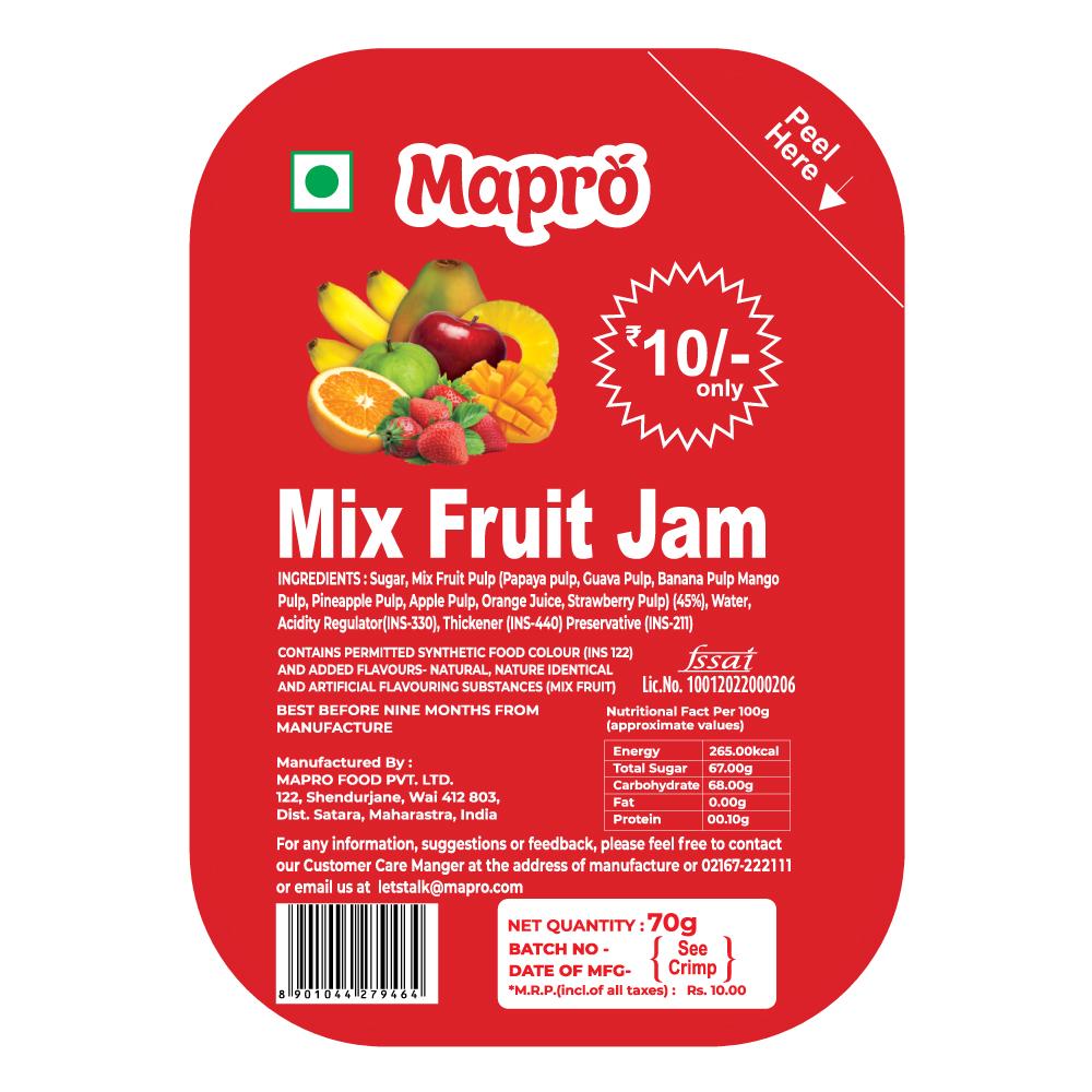 Mapro Mix Fruit Jam Pack of 24