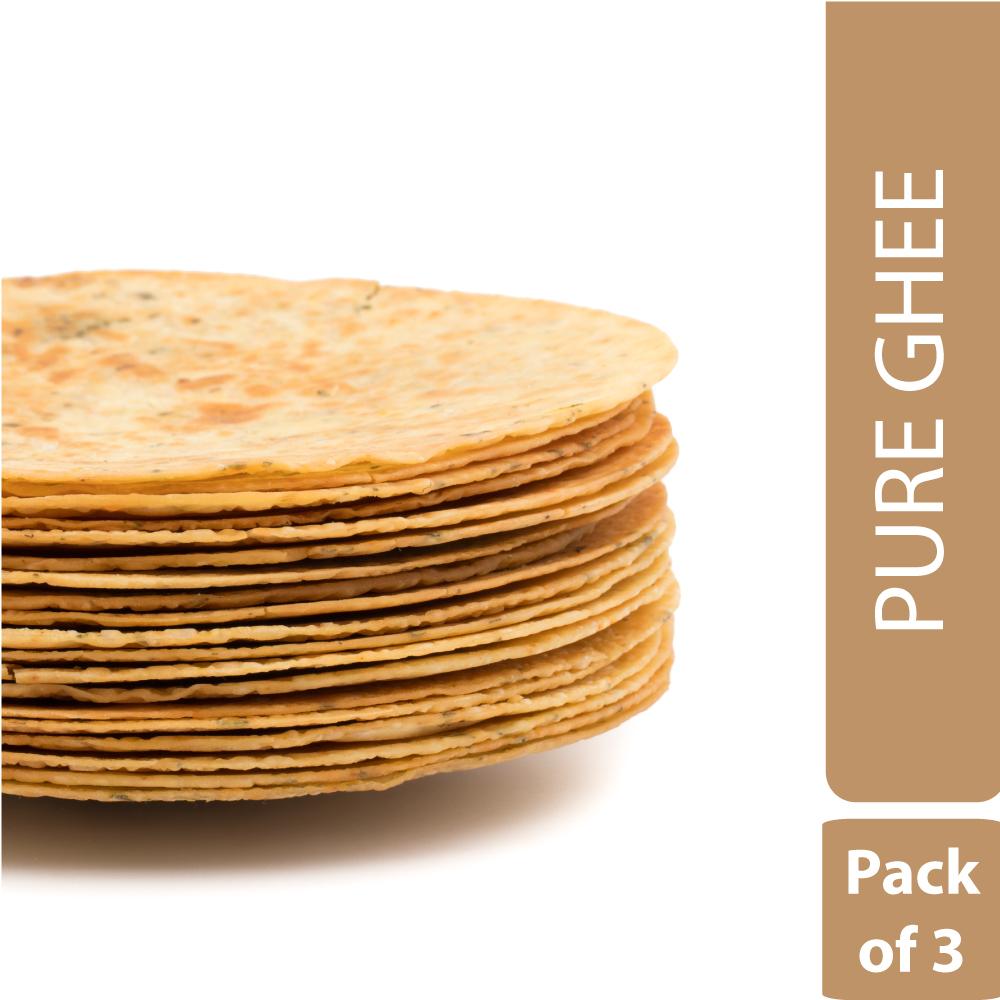 Pure Ghee Khakhra (Pack of 3)