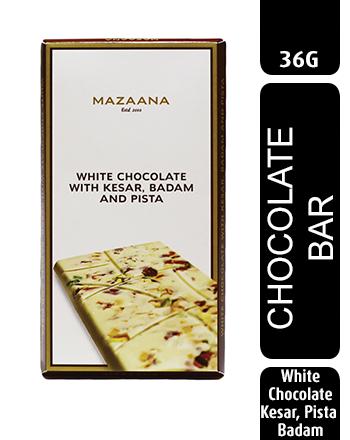 Mazaana White Chocolate with Kesar, Badam and Pista