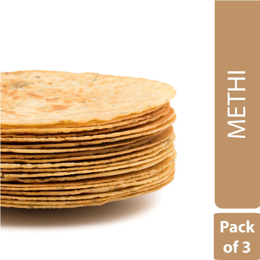 Methi Khakhra (Pack of 3)