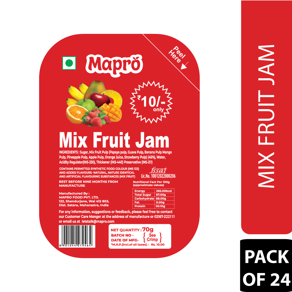 Mapro Mix Fruit Jam Pack of 24